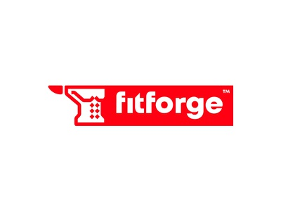 Fitforge™ - Fitness Clothing design identity emblem branding mark cajva logo health sport clothiung fire forge gym fitness fit
