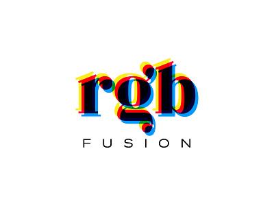 rgb fusion typo typogaphy design branding mark logo cajva retro color palette transparency opacity colorful color rgb