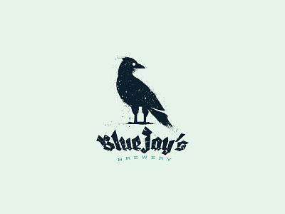 BlueJay's Brewery Logo Design wild animal bird bottle brewery brew bluejay emblem identity branding mark logo cajva