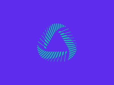 Delta Sound Logo Design brand identity branding mark logo cajva design triangle sound purple abstract piano music delta