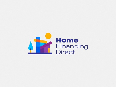 Home Financing Direct Logo Design design brand emblem identity branding mark logo cajva sale house real estate loan finance home