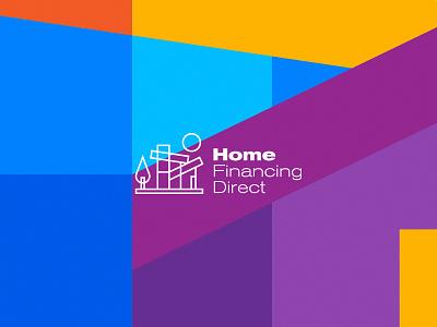 Home Financing Direct Logo Design design brand emblem identity branding mark logo cajva sale house real estate loan finance home