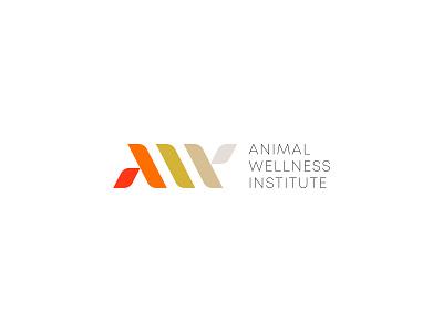 AWI Animal Wellness Institute Logo animal identity branding mark logo cajva animal logo design insitutute animal wellness aw awi monogram animal logo