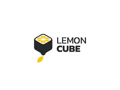 Lemon Cube Logo design brand emblem identity branding mark logo cajva cube lemon logo lemonade lemon cube