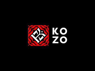 KOZO brand emblem identity branding mark logo cajva z k black red simple logo monogram kozo