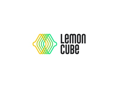 Lemon Cube 3 emblem identity branding mark logo cajva citrics wireframe tech yellow cube box lemon cube lemon