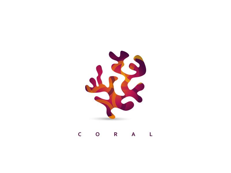 coral logo by cajvanean alexandru dribbble