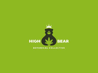 High Bear Botanical Collective emblem mark cajva cannabis pharmaceutical bear high