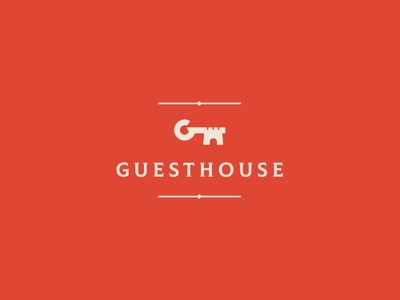 Guesthouse identity brand branding logo cajva accomodation hotel royal castle key guesthouse