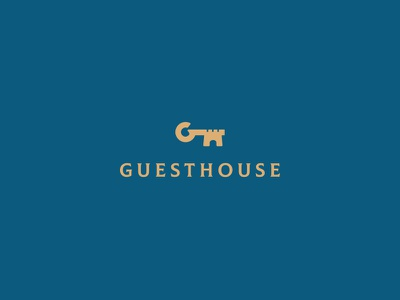Guesthouse identity brand branding logo cajva accomodation hotel royal castle key guesthouse