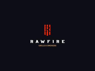 Rawfire Grills and Smokers identity branding brand design cajva logo bbq smokers fire grills raw rawfire