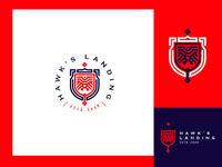 Hawk Slanding Cajva Logo Mark Emblem Branding Identity Dribbble