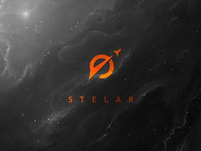 Stelar nasa astronaut universe stars stellar cosmos vector design brand identity emblem branding mark logo cajva