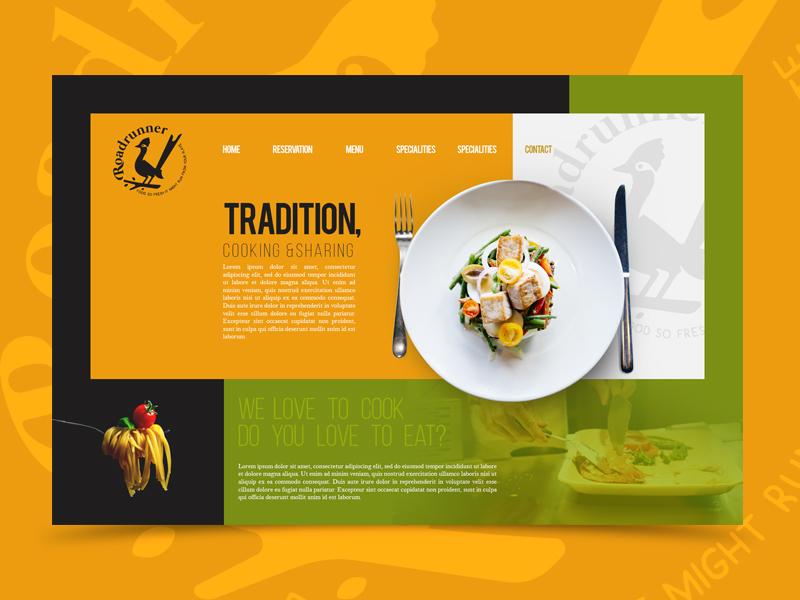Restaurant Website Design pasta plate food restaurant interface ui cajva branding identity brand ux web website webdesign landing page