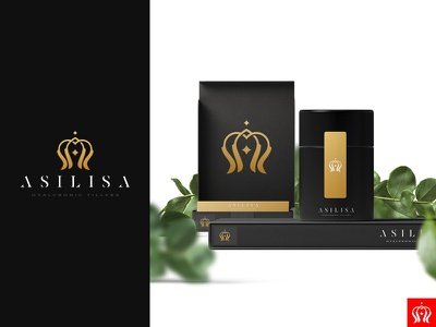 Asilisa Hyaluronic Fillers vector illustration design brand identity emblem branding mark logo cajva crown royal beauty cosmethics cosmetics lip lips filler hyaluronic