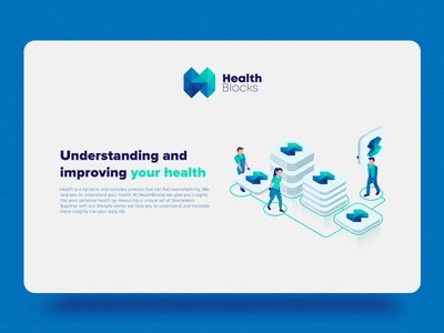 Health Blocks Website and Logo Design