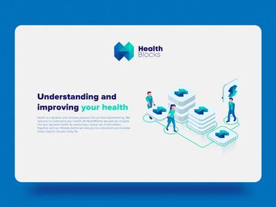 Health Blocks Website and Logo Design