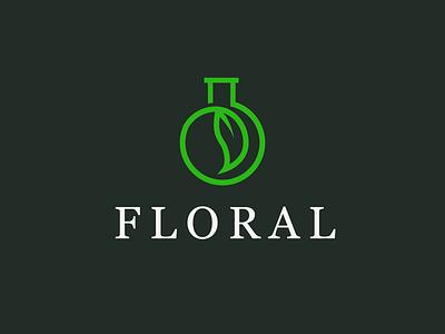 Floral Logo illustrator illustration cosmetics identity design identity logo graphic design branding