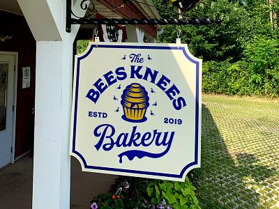 Bees Knees Bakery branding fun bees bakery design logo