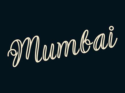 Mumbai lettering fun type india mumbai