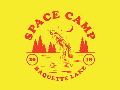 Space Camp summer camp lake ufo space doodle fun abduction