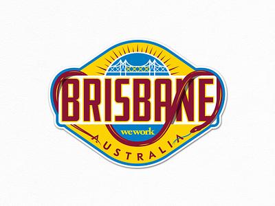 Brisbane Sticker fourex brisbane river storybridge australia brisbane design vector illustration fun