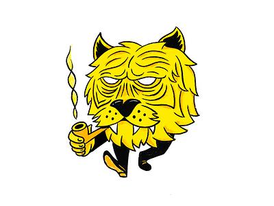 Old Man Tiger character tiger illustration doodle fun