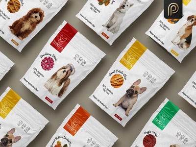 Teddy's Treat Brand Product Packaging design branding design branding productdesign dog dog meal dog treats chips sticks pouches premium packaging graphicdesign advertisement branding agency packaging design package brand packaging product label