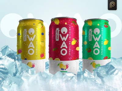 OWAO products packaging design print designs advertisment graphicdesign sprinkle infusion lemon lime berry lime berry mango drink softdrink flavors packaging design label design branding packagingpro package brand label product packaging