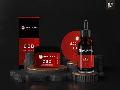 Ageless CBD Hair Oil Packaging Design hair cbd oil labeldesign branding brand package concept graphicdesign packaging design label design packagingpro product packaging