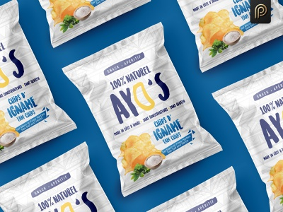 Ayo's Chips Packaging Design natural packaging design label design branding design packagingpro chips package label product packaging