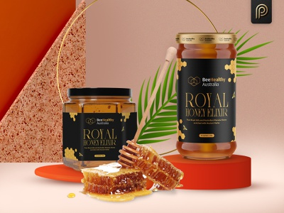 Royal Honey Elixir Packaging Design design honey royal label design packaging design branding brand packagingpro package product packaging