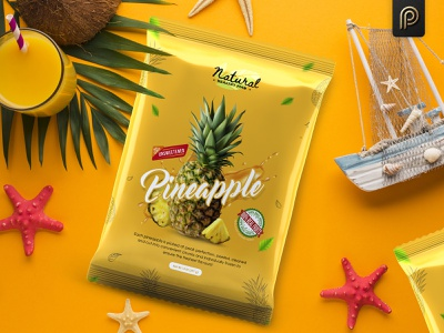 Pineapple Natural Healthy Food Packaging Design pineapple healthy label design packaging design branding design packagingpro package product packaging