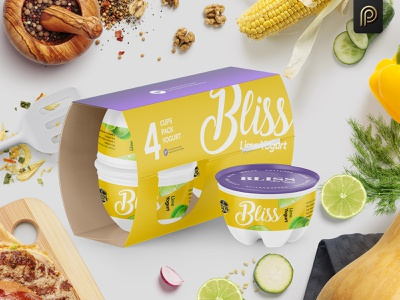 Bliss Lime Yogurt Packaging Design branding yogurt bliss packaging design concept packagingpro design package product packaging