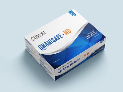 Granisafe-MD Tablets Concept Label Design medicine medical tablet label design packaging design illustration packagingpro branding design concept package brand logo product packaging label