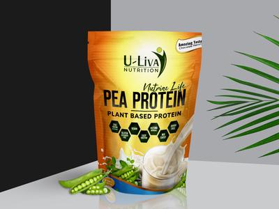 Pea Protein Concept Label Design
