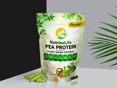 Nutrine Life Pea Protein Concept Label Design