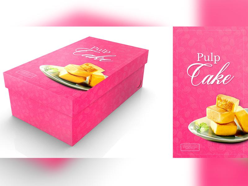 Pulp Cake Concept Label Design pulp cake packaging design label design packagingpro branding design concept illustration package brand logo product packaging label