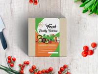 Fresh Healthy Delicious Concept Label Design