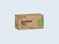 Soursop Tea Concept Label Design
