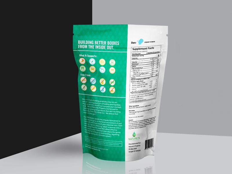 Probiotic Seeds Concept Packaging Design nature seeds probiotic packaging design label design packagingpro branding design package concept illustration brand logo product packaging label