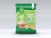 Rice Premium Quality Concept Label Design