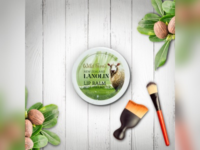 Lip Balm With Shea Butter lip balm packaging design label design packagingpro branding design illustration concept package brand logo product packaging label