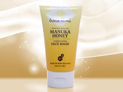 Conditioning Face Mask face mask packaging design branding brand label design packagingpro design package concept illustration typography logo product packaging label