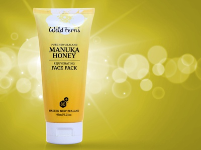 Face Pack Concept Label Design