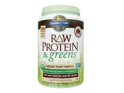 Raw Protein 7 greens Packaging Design