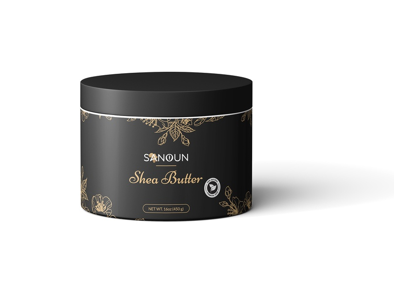 Sanoun Shea Butter Packaging Design logo medicine medical beauty branding label design packaging design packagingpro design package brand label product packaging