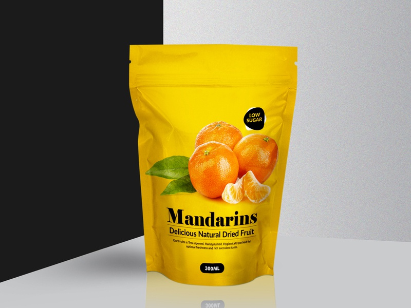 Mandarins  Natural Dried Fruit Packaging Design branding label design packaging design packagingpro design package brand product packaging