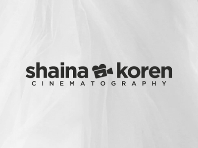 Shaina Koren Cinematography  photography cinematography love negative negative space logo branding camera wedding heart