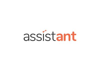 Assist Ant Logo minimal identity branding wordmark logotype logo ant insect